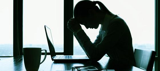 tristeza no trabalho