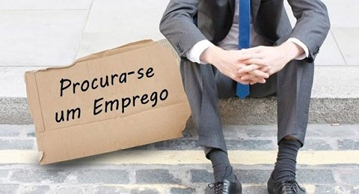 placa desemprego
